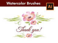 How to design a Greeting Card with Watercolor Brushes in Adobe Illustrator