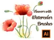 How to Draw Flowers with Watercolor Brushes in Adobe Illustrator
