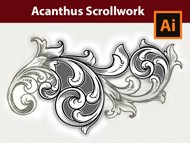 How to Vectorize an Acanthus Scrollwork Sketch in Adobe Illustrator