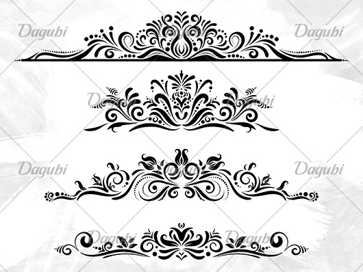 Set of Floral Borders and Corners