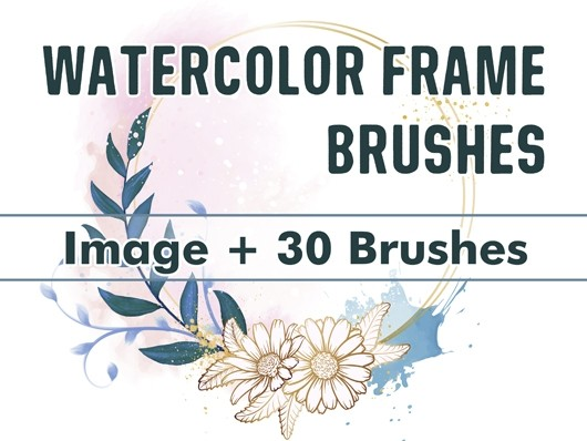 Watercolor Frame Brushes