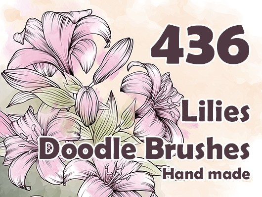 Lilies Doodle Brushes