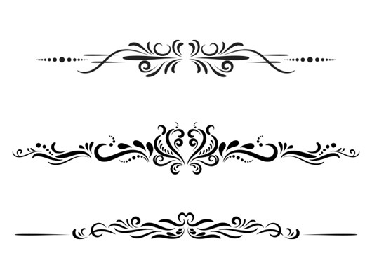 Vector Vintage Border Elements