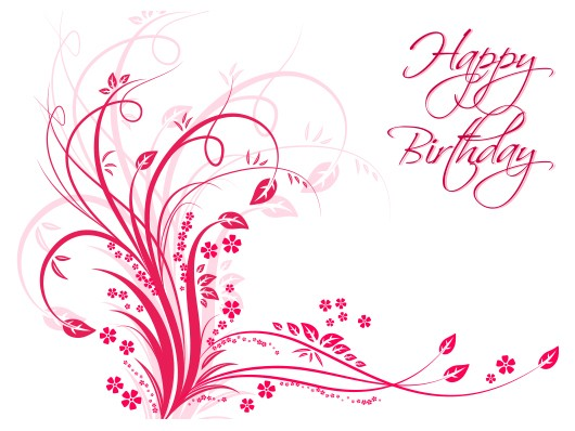 Vector floral happy birthday postcard floral happy birthday postcard bookmarktalkfo Image collections