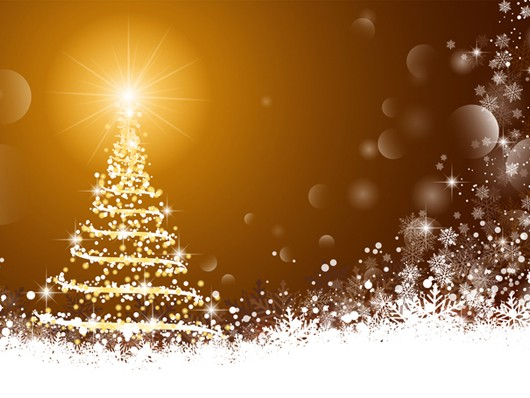 vector gold christmas background