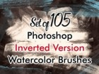 PS Watercolor Brushes 02 Invert