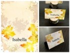 Watercolor Autumn Place Card