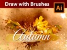 Draw an Autumn Illustration in Adobe Illustrator with Vector Watercolor Brushes