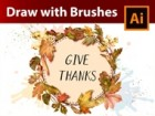 How to make a Vintage Autumn Frame with Watercolor Leaf Brushes in Adobe Illustrator