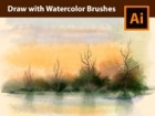How to Draw a Landscape with Real Watercolor Vector Brushes in Adobe Illustrator