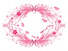 Decorative Swirl Floral Banner