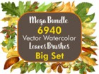 Bundle - Leaves Brushes Big Set
