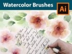 How to Draw Flowers with Watercolor Brushes for Paper Letter - Adobe Illustrator Tutorial
