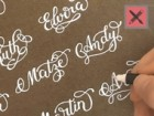 How to Write 16 Names in Fancy Letters with a White Marker