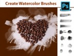 Adobe Photoshop Tutorial - Create your own Watercolor Brushes