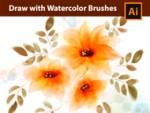 Adobe Illustrator Tutorial - How to draw with Watercolor Brushes