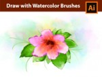Adobe Illustrator - Flowers - Watercolor Drawing Tutorial