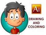 Adobe Illustrator Drawing and Coloring a Cartoon Child
