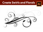 Create Swirls Florals in Adobe Illustrator with the Width Tool and the Spiral Tool