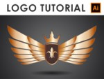 How to create a Golden Wings Logo - Illustrator Tutorial