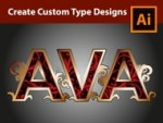 Lettering a Vintage Logo in Adobe Illustrator - How to design the Name AVA
