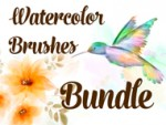 BUNDLE - Watercolor Brushes 01-02