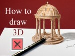 How to draw 3D - Barock Pavilion - Anamorphic Illusion