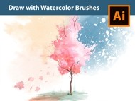 How to draw a Vector Watercolor Tree in Adobe Illustrator