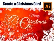 How to make a Red Christmas Card in Adobe Illustrator