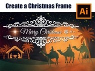 How to draw a Christmas Frame in Adobe Illustrator