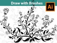 How to draw Shrubs and Plants with Brushes in Adobe Illustrator