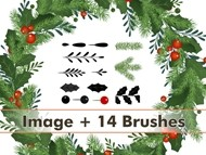 Christmas Wreath Brushes