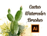How to Draw a Cactus with Real Watercolor Vector Brushes - Adobe Illustrator Tutorial
