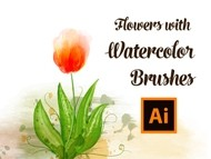How to Draw Tulip Flowers with Watercolor Brushes in Adobe Illustrator