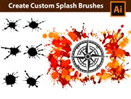 How to generate custom Splash Brushes in - Adobe Illustrator Tutorial