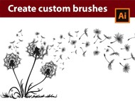 Create Custom - Dandelion - Brushes in - Adobe Illustrator Tutorial