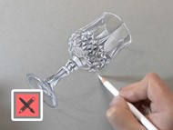 How to draw a Glass - Time Lapse 3D Drawing