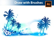 How I draw a Summer Background in Adobe Illustrator