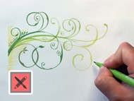 How to draw Swirls and Florals with Markers