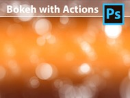 Photoshop Tutorial - How to create a Bokeh Background with Actions