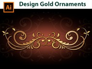 How to design a Gold Border - Adobe Illustrator