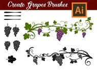 How to create custom Grapes Brushes in Adobe Illustrator