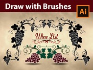 How to draw with Grapes Brushes - Adobe Illustrator