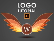 How I create a Wings Logo - Illustrator Tutorial