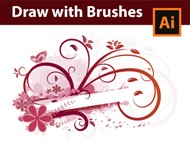 How to draw with Brushes - Swirls Swooshes and Florals in Adobe Illustrator