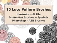 Lace Pattern Brushes