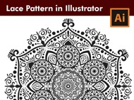 How I draw a Floral Lace Pattern in Adobe Illustrator