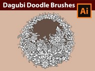How to draw with Dagubi Doodle Brushes in Adobe Illustrator