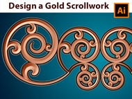 How to make a Gold Scrollwork Border - Adobe Illustrator Tutorial