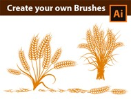 How to create Custom Wheat Brushes in Adobe Illustrator